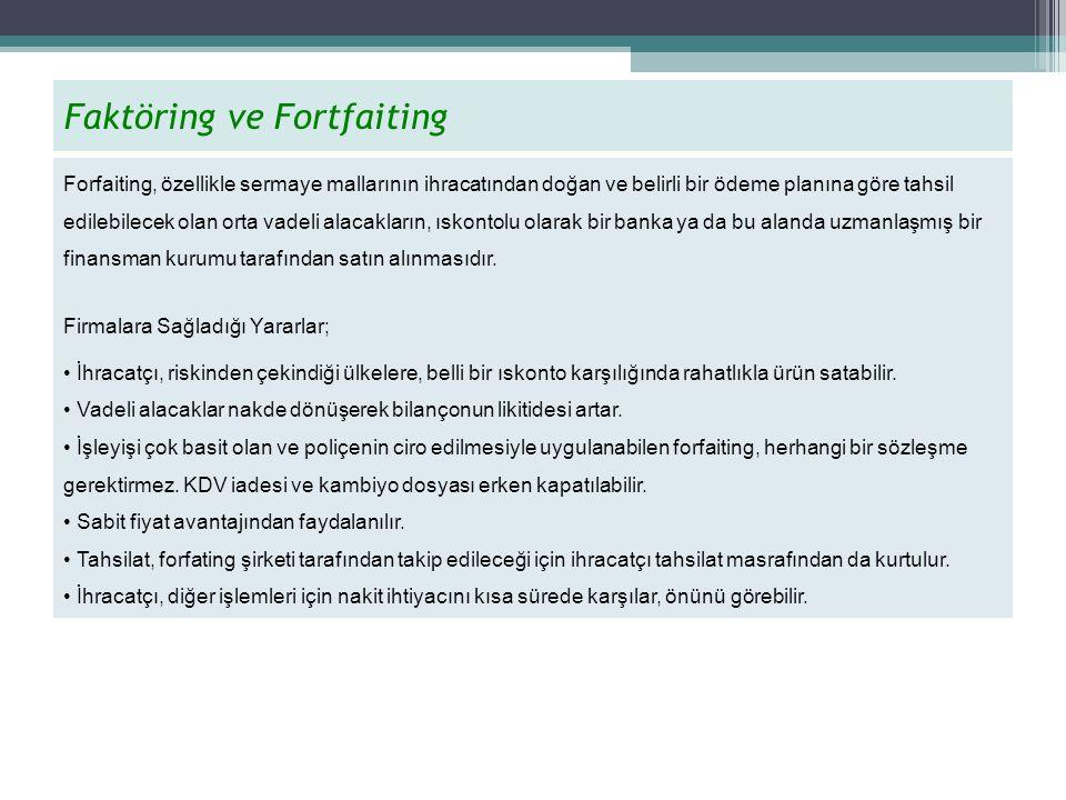Faktöring ve Fortfaiting