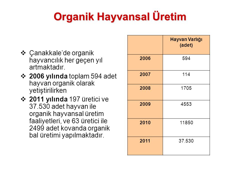 Organik Hayvansal Üretim
