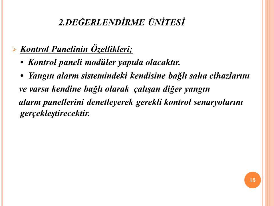 2.DEĞERLENDİRME ÜNİTESİ