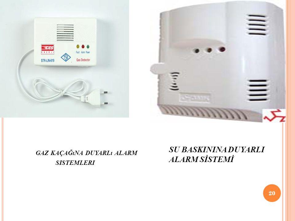 gaz kaçağına duyarlı alarm sistemleri