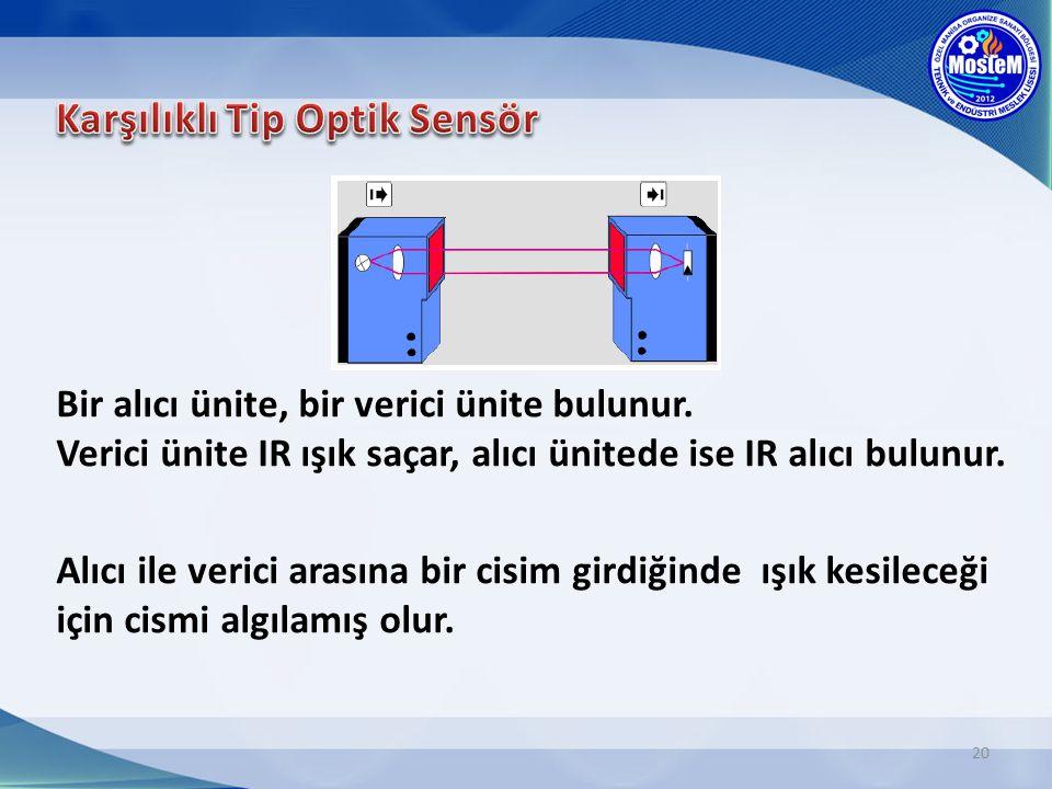 Karşılıklı Tip Optik Sensör