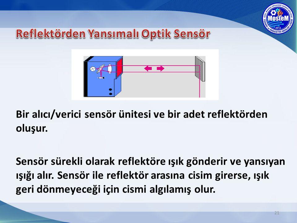 Reflektörden Yansımalı Optik Sensör
