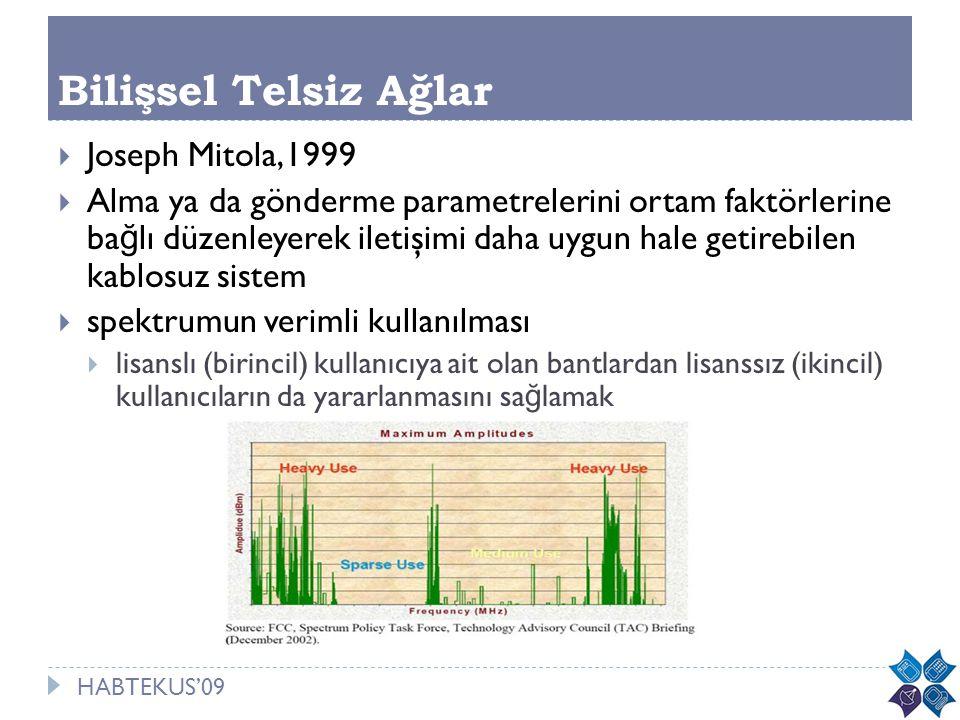 Bilişsel Telsiz Ağlar Joseph Mitola,1999
