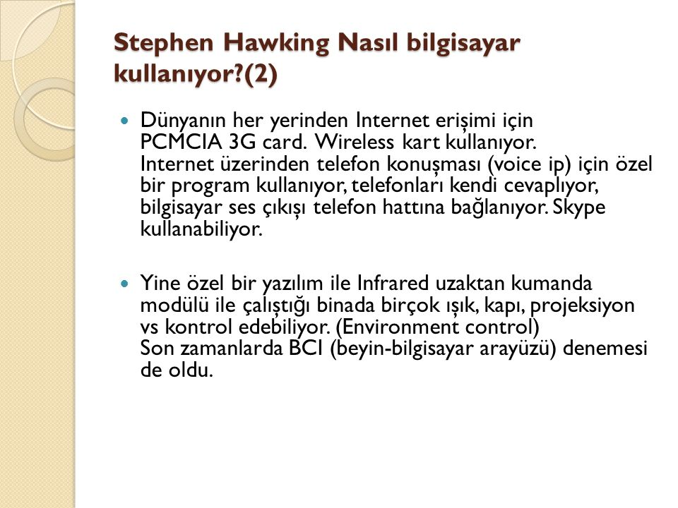 Stephen Hawking Nasıl bilgisayar kullanıyor (2)
