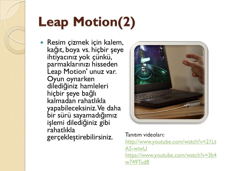 Leap Motion(2)