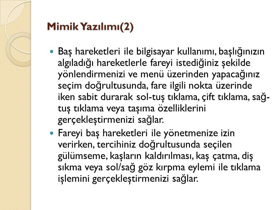 Mimik Yazılımı(2)