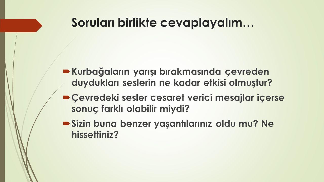 Soruları birlikte cevaplayalım…