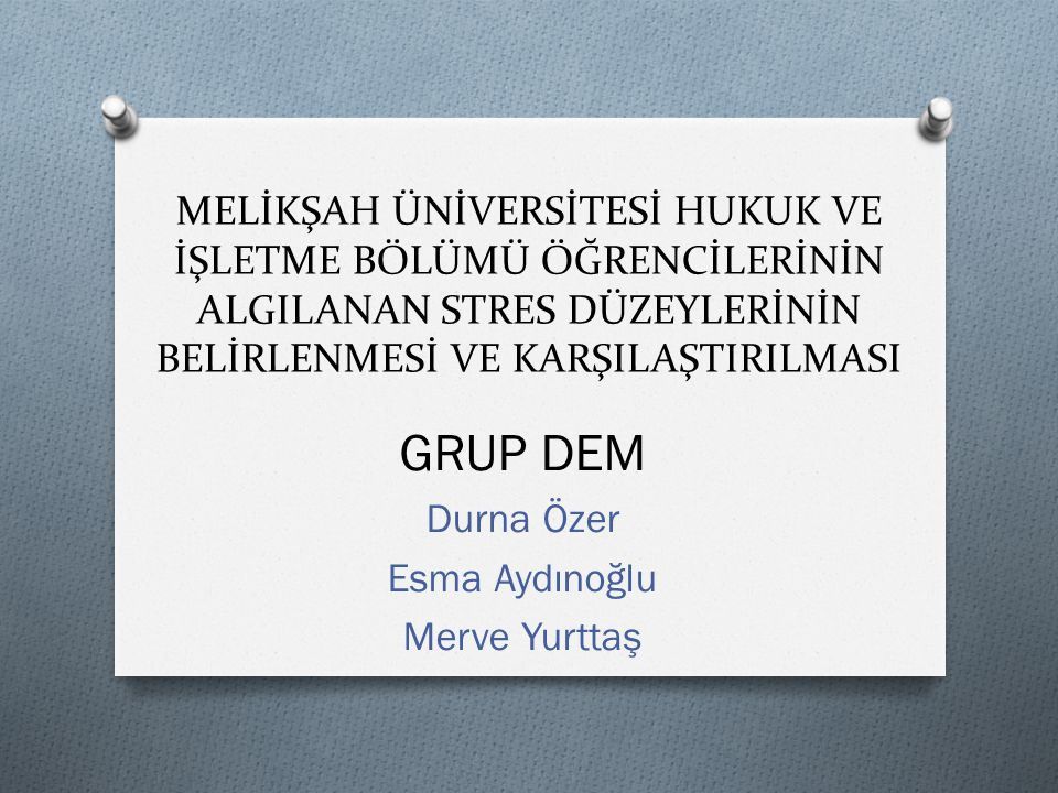 GRUP DEM Durna Özer Esma Aydınoğlu Merve Yurttaş