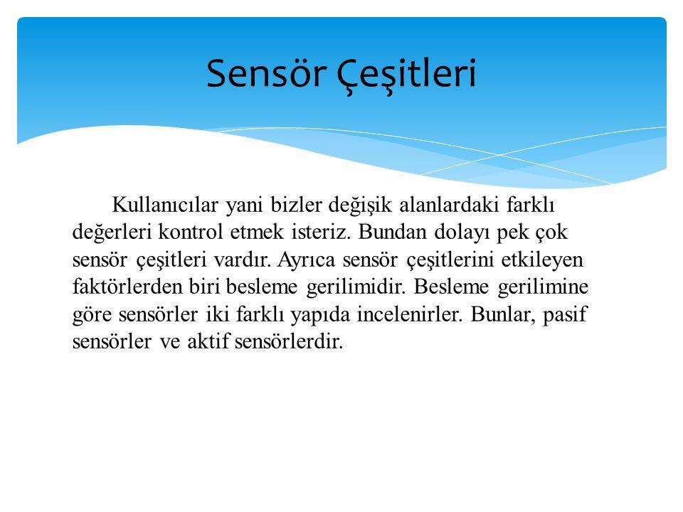 Sensör Çeşitleri