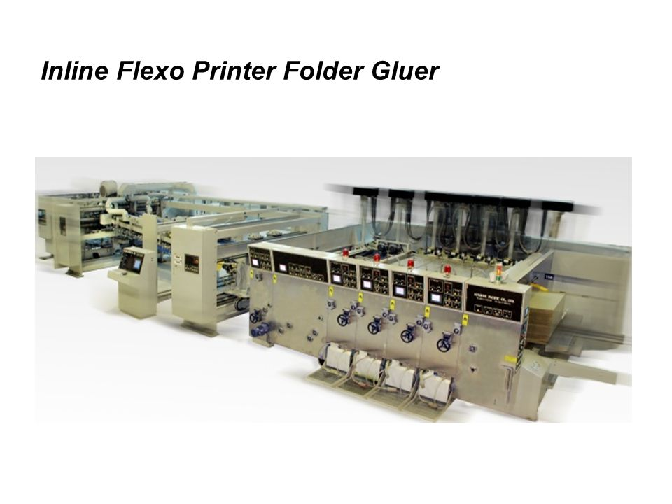 Inline Flexo Printer Folder Gluer