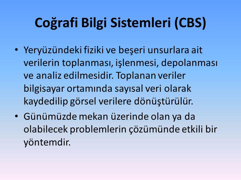 Coğrafi Bilgi Sistemleri (CBS)