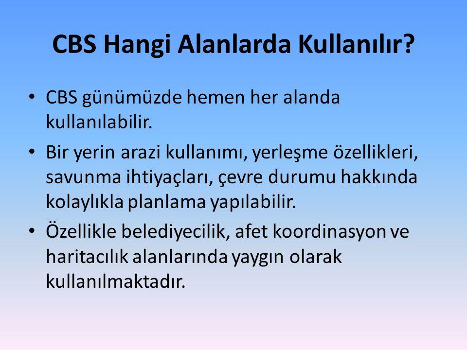 CBS Hangi Alanlarda Kullanılır