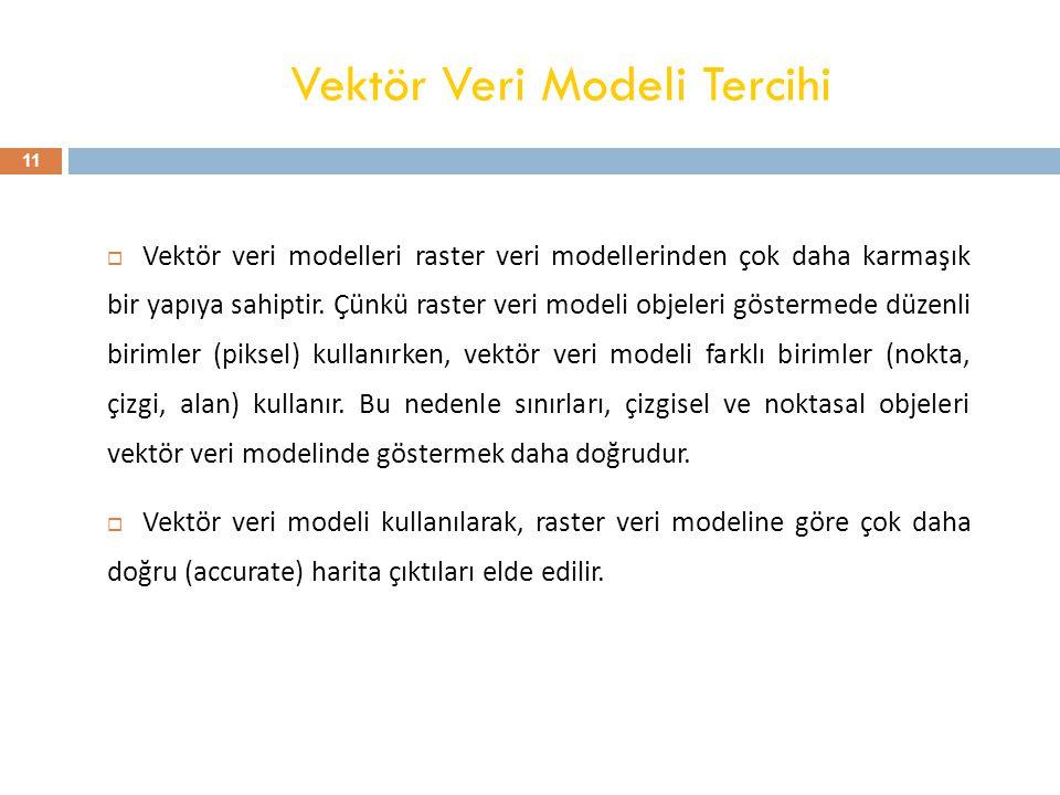 Vektör Veri Modeli Tercihi