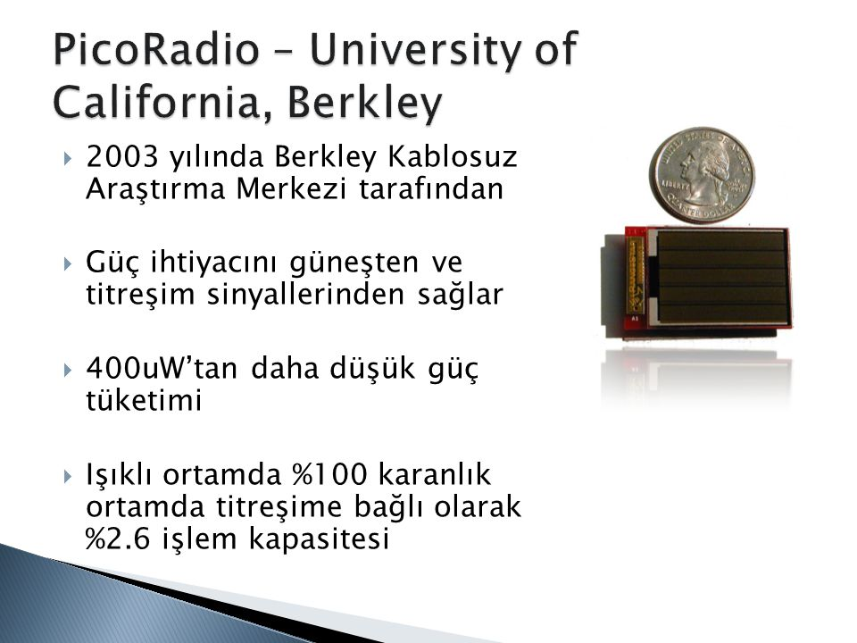 PicoRadio – University of California, Berkley