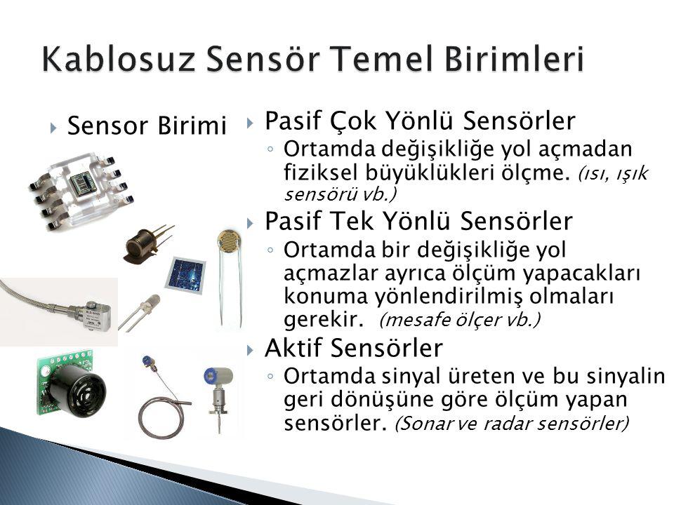Kablosuz Sensör Temel Birimleri