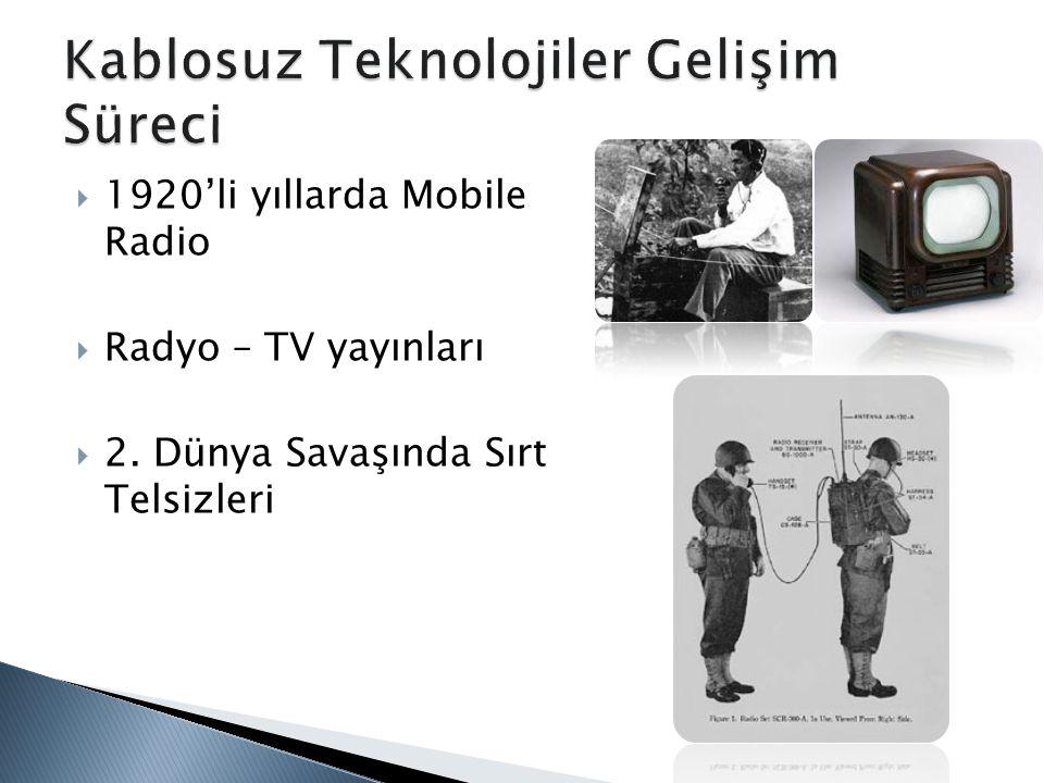 Kablosuz Teknolojiler Gelişim Süreci