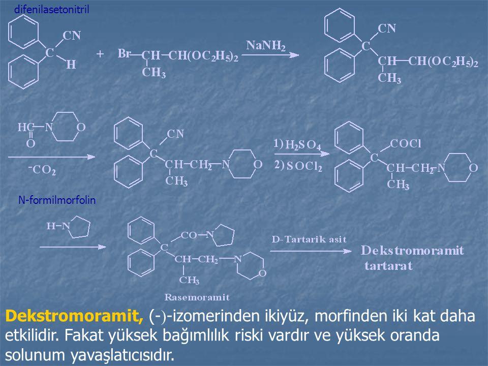 difenilasetonitril N-formilmorfolin.