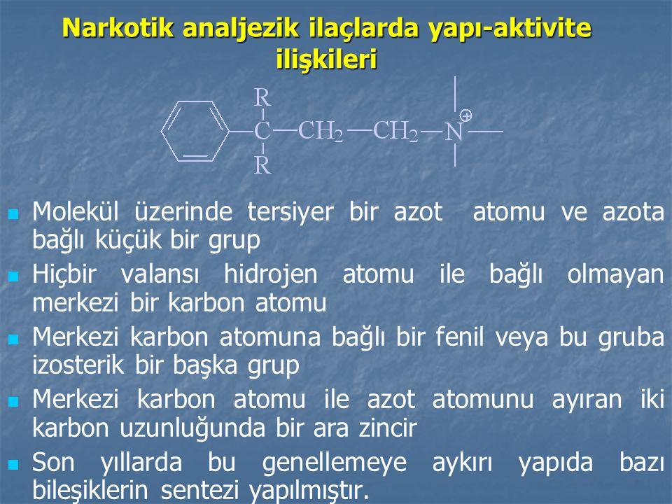 Narkotik analjezik ilaçlarda yapı-aktivite ilişkileri