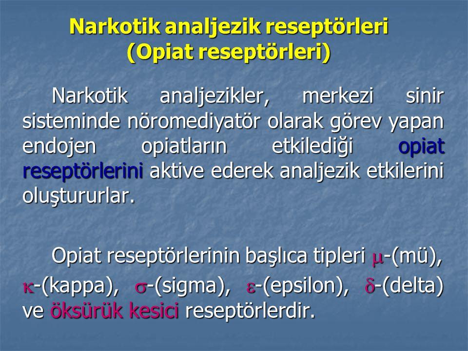Narkotik analjezik reseptörleri (Opiat reseptörleri)