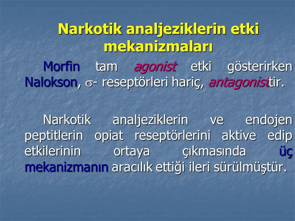 Narkotik analjeziklerin etki mekanizmaları