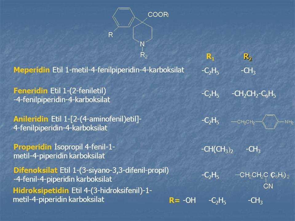Meperidin Etil 1-metil-4-fenilpiperidin-4-karboksilat