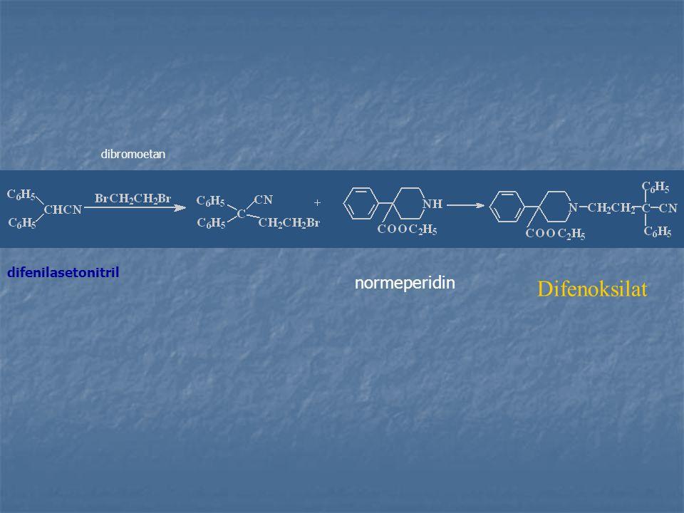 dibromoetan difenilasetonitril normeperidin Difenoksilat