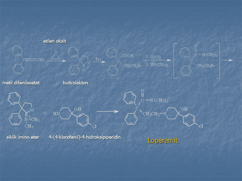 Loperamit etilen oksit metil difenilasetat butirolakton