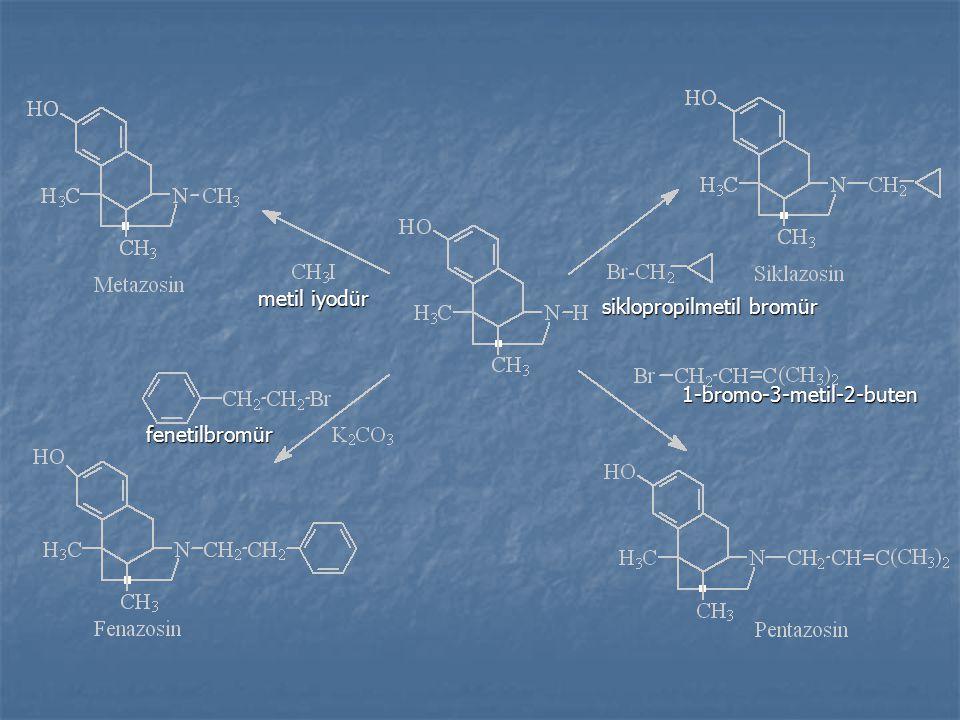 metil iyodür siklopropilmetil bromür 1-bromo-3-metil-2-buten fenetilbromür