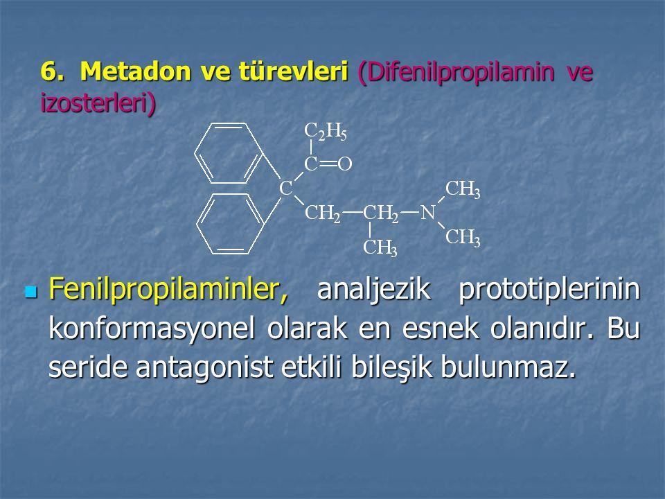6. Metadon ve türevleri (Difenilpropilamin ve izosterleri)