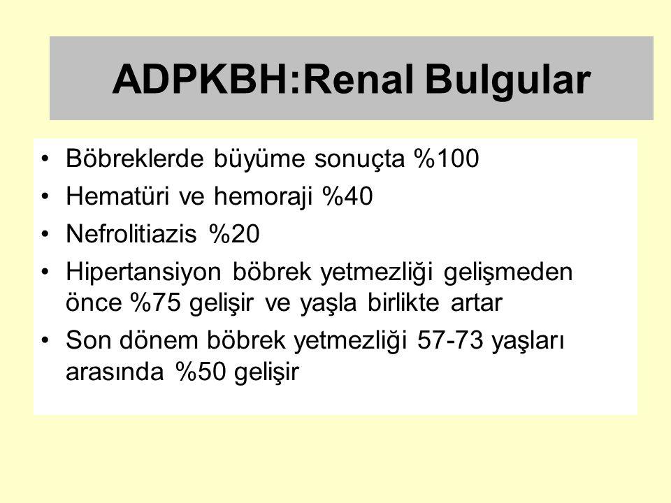 ADPKBH:Renal Bulgular