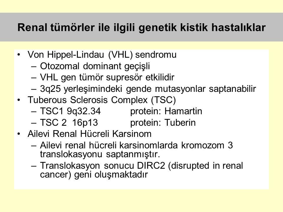 Renal tümörler ile ilgili genetik kistik hastalıklar