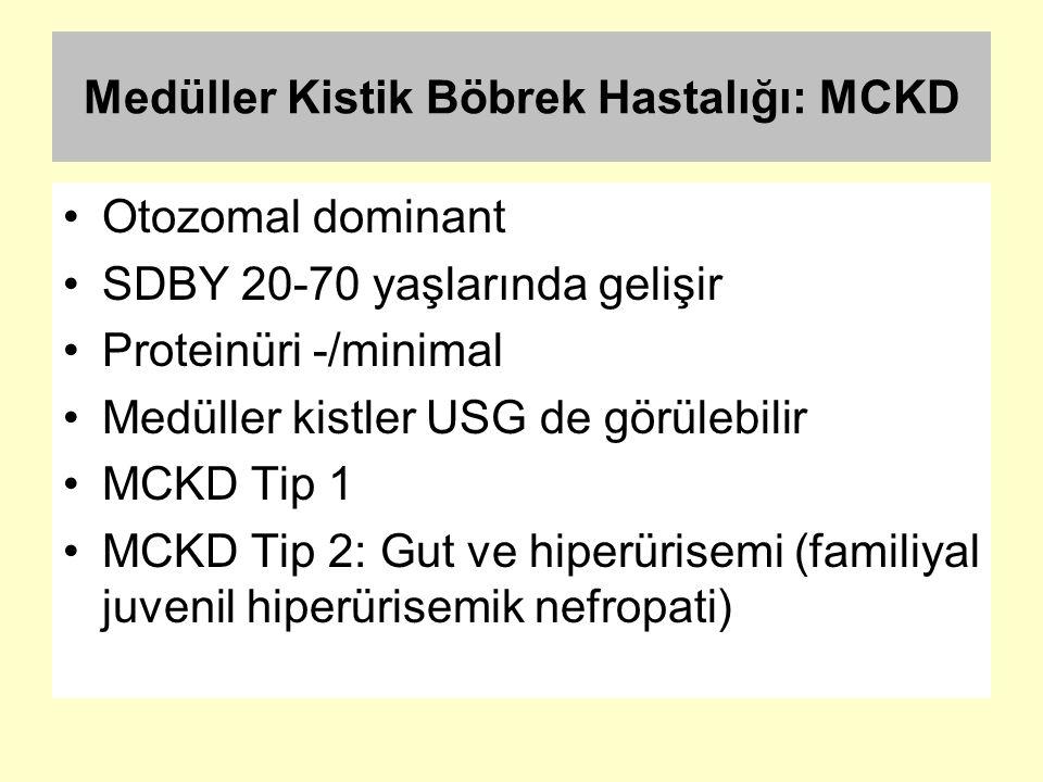 Medüller Kistik Böbrek Hastalığı: MCKD
