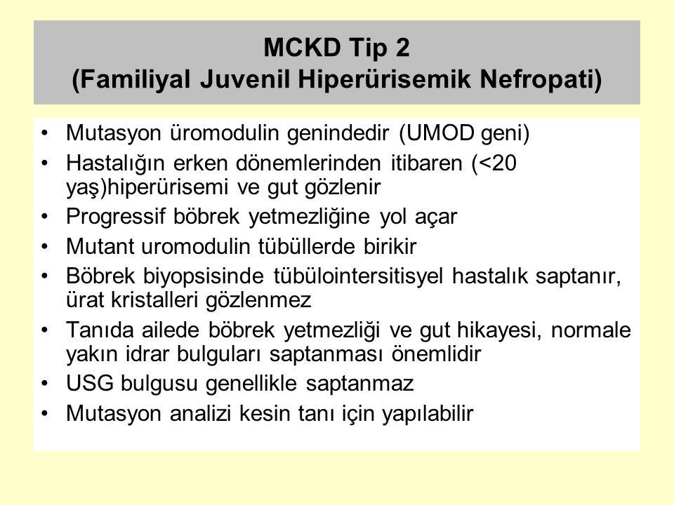 MCKD Tip 2 (Familiyal Juvenil Hiperürisemik Nefropati)
