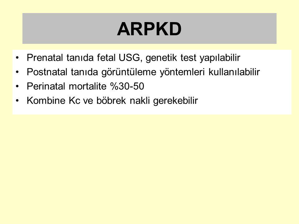 ARPKD Prenatal tanıda fetal USG, genetik test yapılabilir