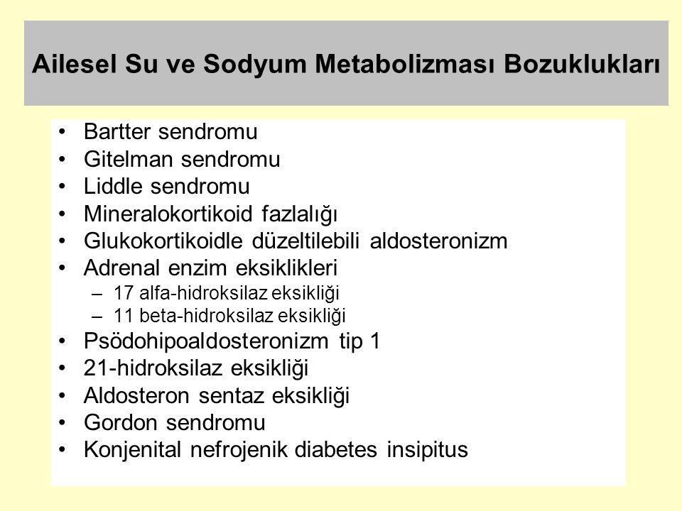 Ailesel Su ve Sodyum Metabolizması Bozuklukları