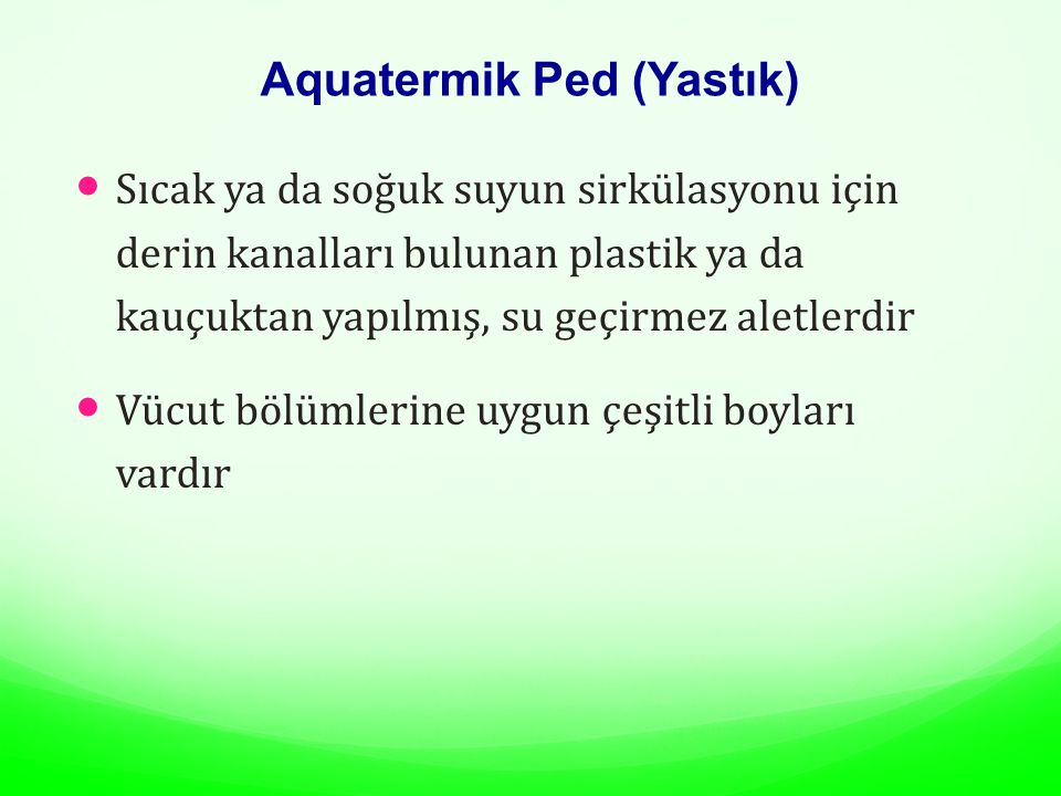 Aquatermik Ped (Yastık)