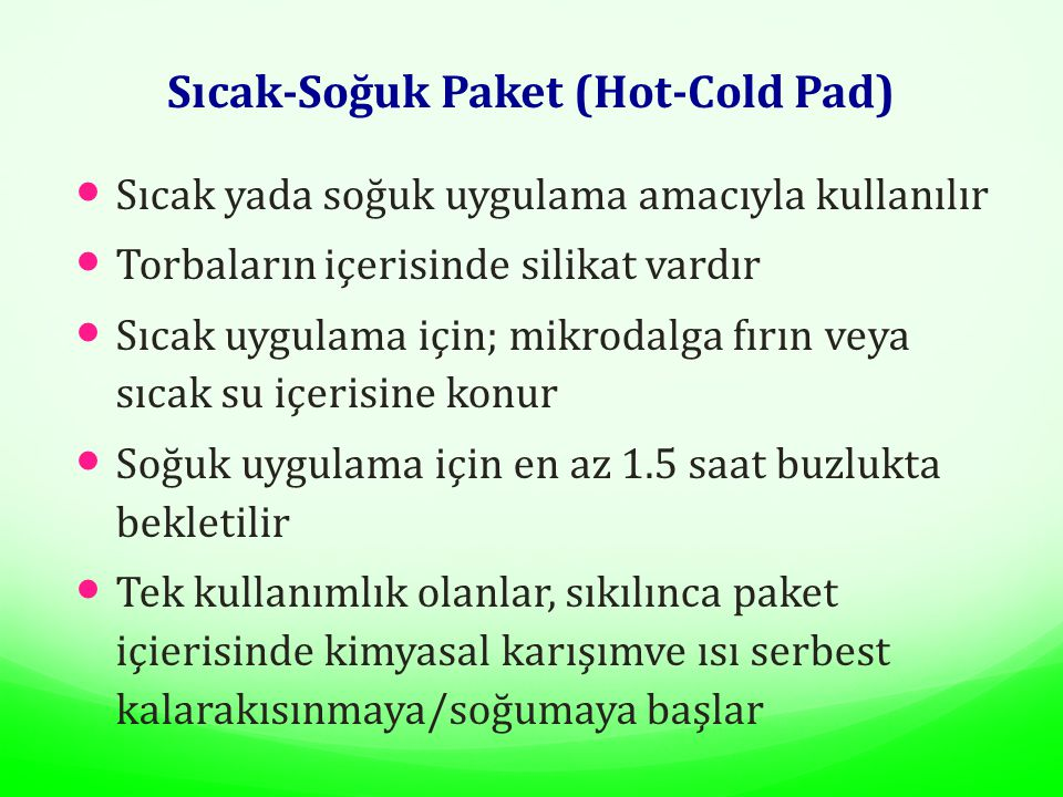 Sıcak-Soğuk Paket (Hot-Cold Pad)