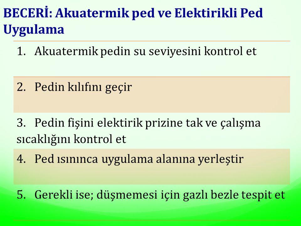 BECERİ: Akuatermik ped ve Elektirikli Ped Uygulama