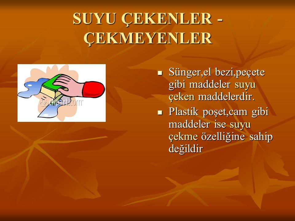 SUYU ÇEKENLER - ÇEKMEYENLER