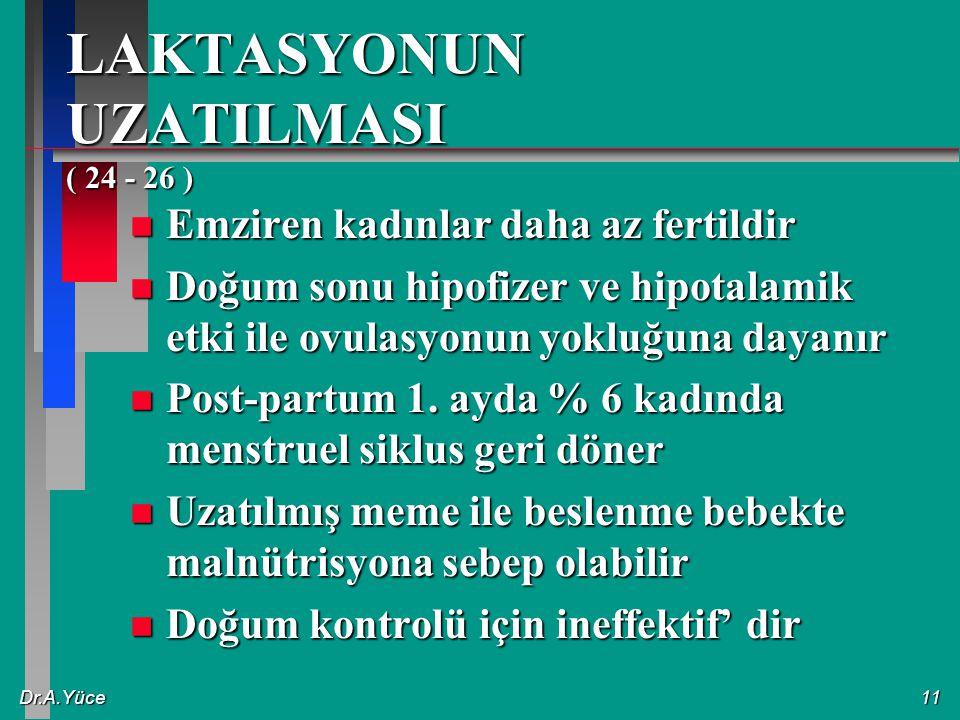 LAKTASYONUN UZATILMASI ( 24 - 26 )