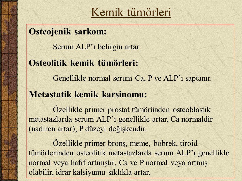 Kemik tümörleri Osteojenik sarkom: Osteolitik kemik tümörleri: