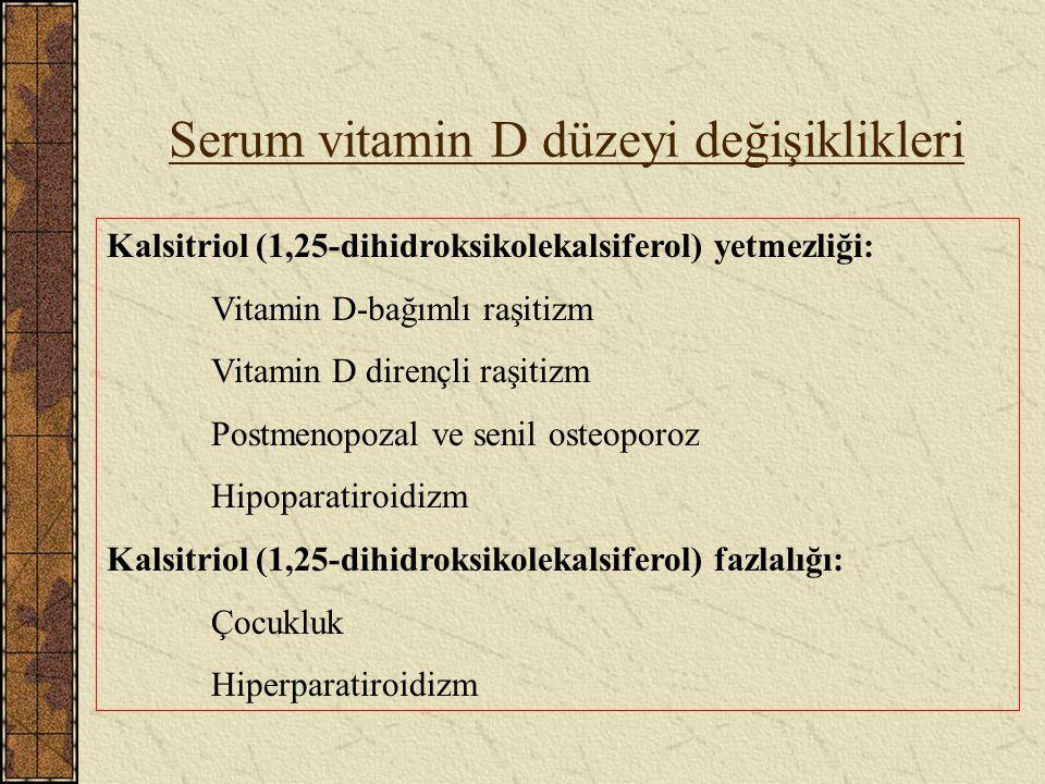 Serum vitamin D düzeyi değişiklikleri