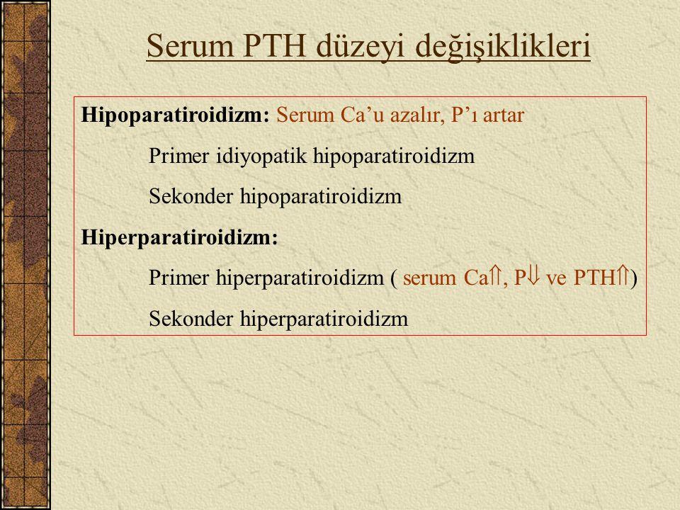 Serum PTH düzeyi değişiklikleri