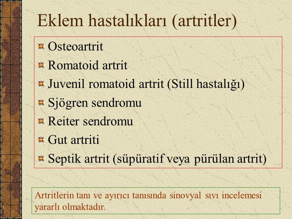 Eklem hastalıkları (artritler)
