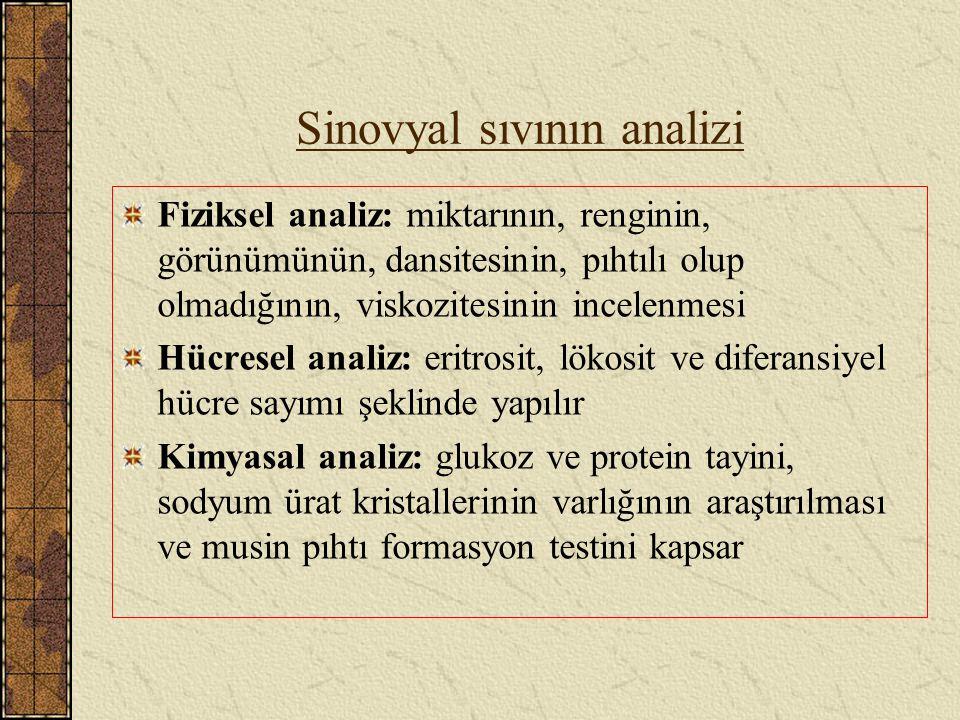 Sinovyal sıvının analizi