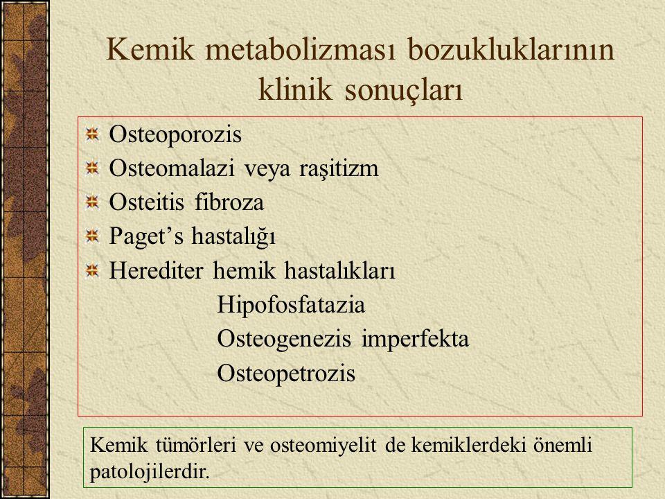 Kemik metabolizması bozukluklarının klinik sonuçları