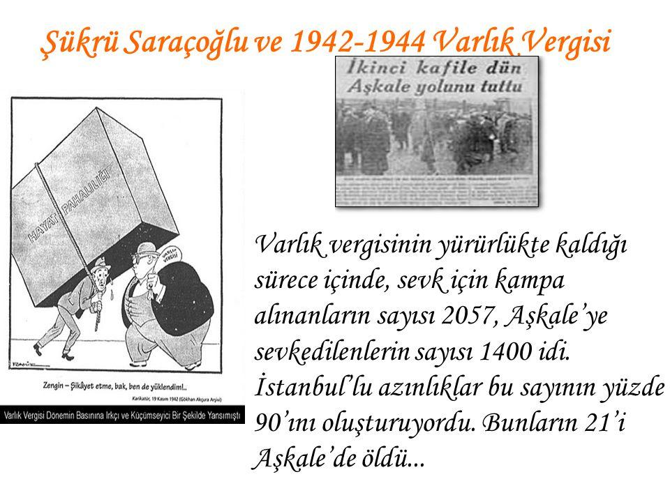 Şükrü Saraçoğlu ve 1942-1944 Varlık Vergisi