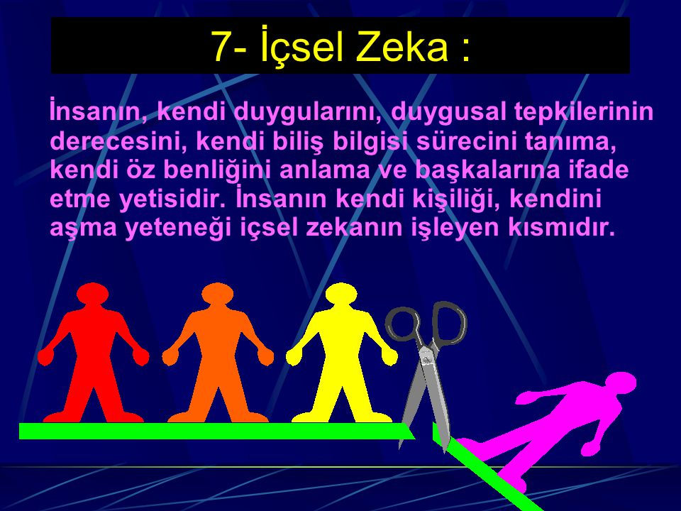 7- İçsel Zeka :