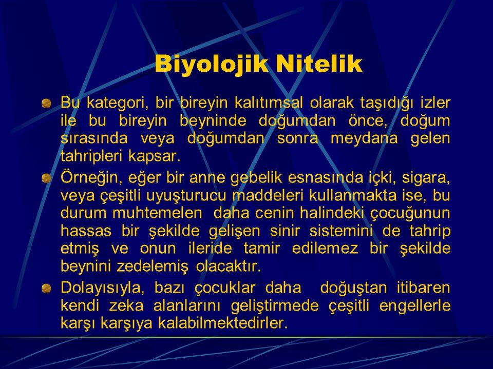 Biyolojik Nitelik