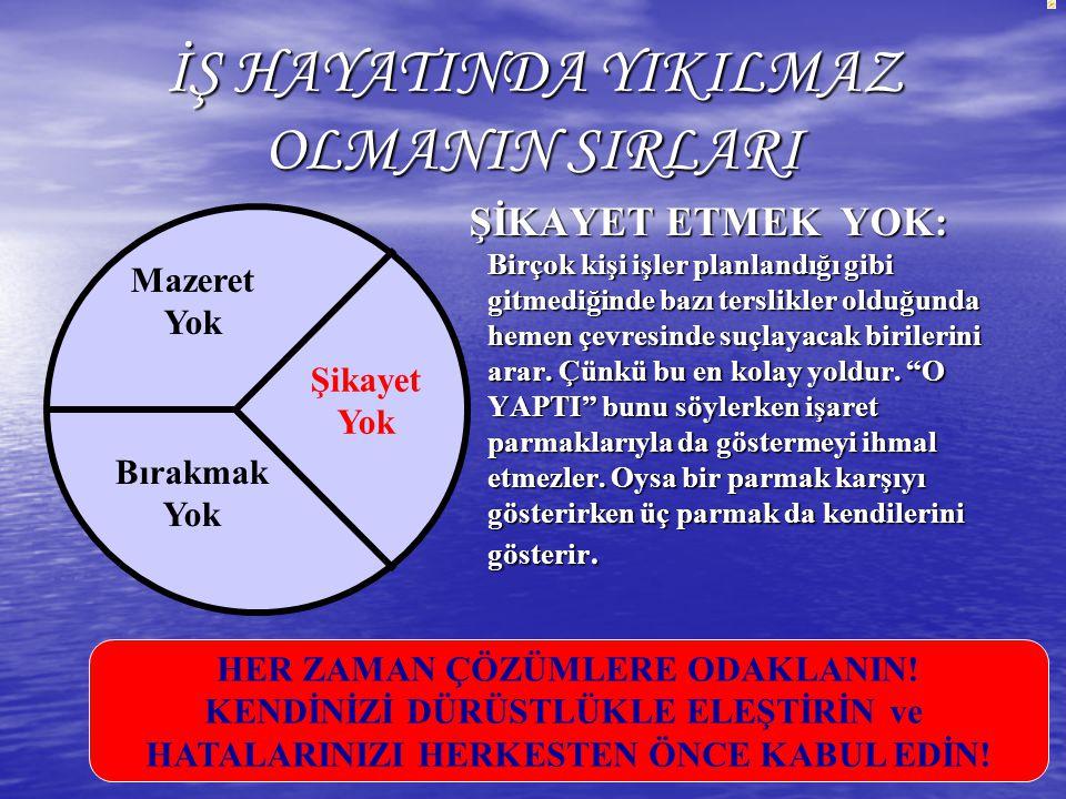 İŞ HAYATINDA YIKILMAZ OLMANIN SIRLARI